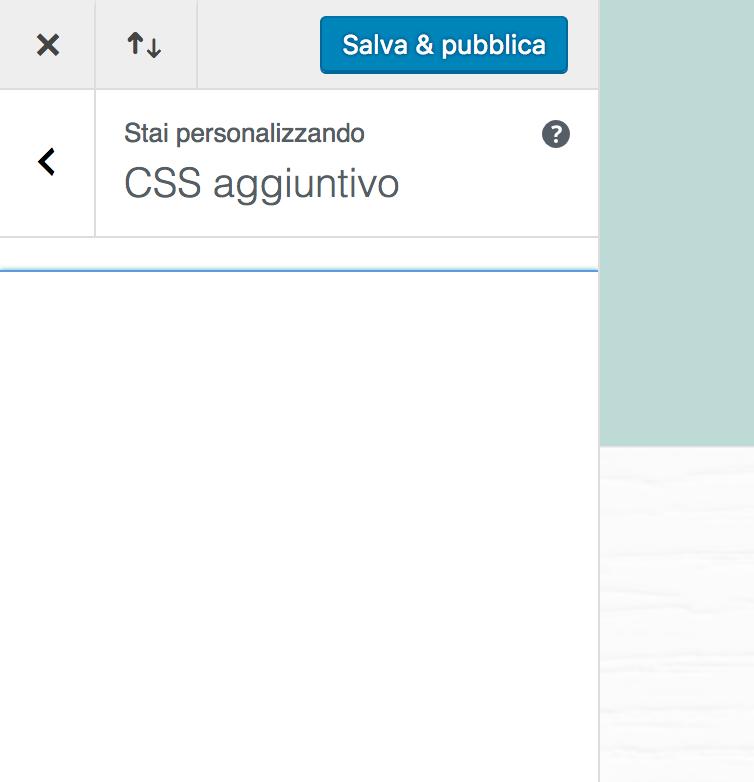 Personalizzatore WordPress